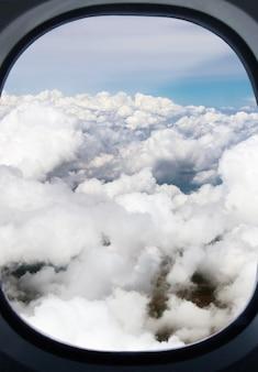 Niebo z chmurami cumulus