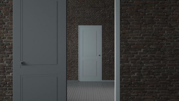 Niekończące się otwieranie białych drzwi