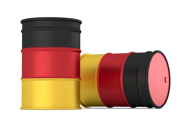 Niemcy baryłki flagi stylu oleju na białym tle