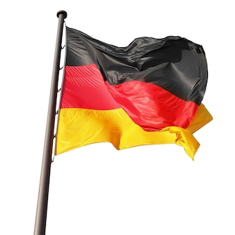Niemiecka flaga na białym tle