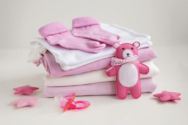 Niemowlęce ubranka dla niemowląt baby girl smoczek