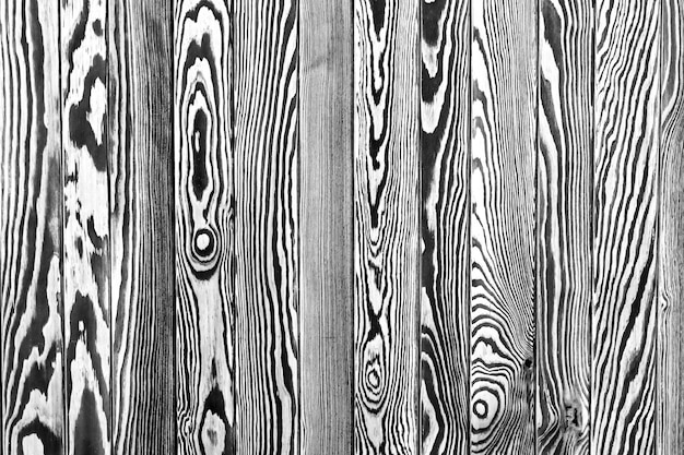 Nieociosana drewniana płotowa tekstura, czarny i biały