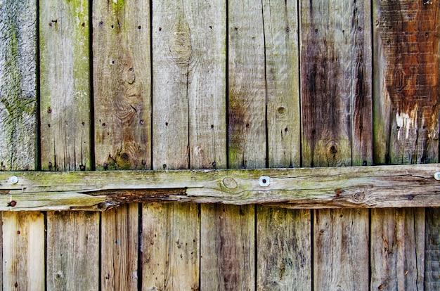 Nieociosana drewniana płotowa tekstura zieleni i błękita kolory