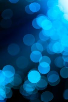 Nieostre niebieskie światłowody