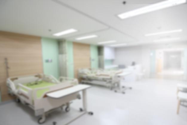 Nieostre tło oddziału lub oddziału intensywnej terapii w szpitalu
