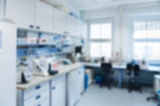 Nieostre wnętrze laboratorium