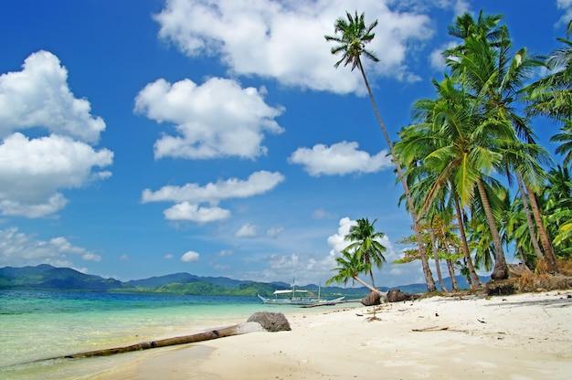 Niesamowita tropikalna ucieczka na palawan, wycieczka na wyspę el nido. filipiny