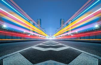 Niewyraźne światełka ruchu drogowego