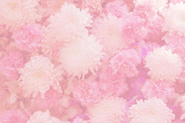 Niewyraźne kwiaty kwitnące. w pastelowym stylu dla tła.