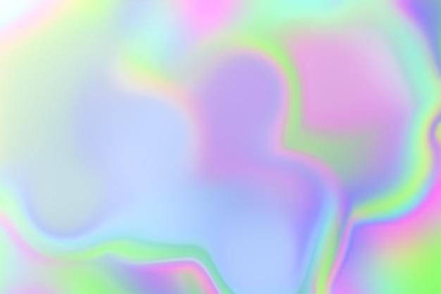 Niewyraźne opalizujące ukośne tło gładkiego papieru holograficznego.