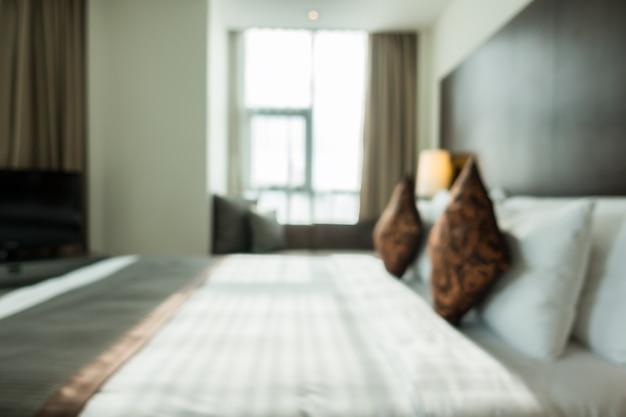 Niewyraźne podwójne łóżko
