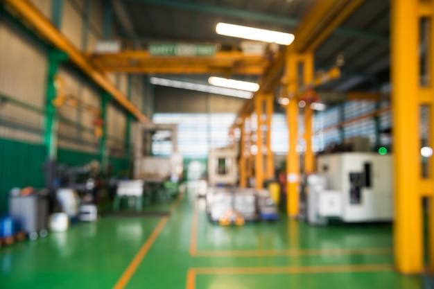 Niewyraźne streszczenie fabryki przemysłu