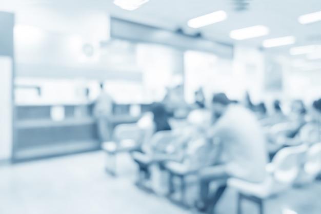 Niewyraźne wnętrze dozowania w szpitalu - streszczenie tło medyczne.