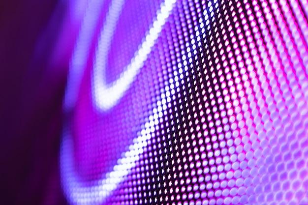 Niewyraźny ekran led closeup. tło led nieostrość. abstrakcyjne tło idealne do projektowania.
