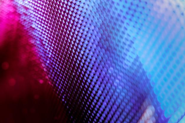 Niewyraźny ekran led closeup. tło led nieostrość