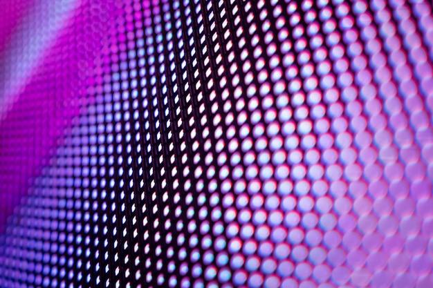 Niewyraźny ekran led closeup. tło led nieostrość.