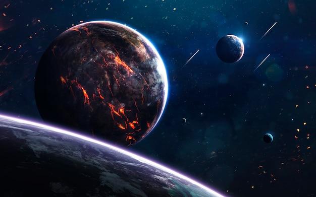 Niezbadane planety w odległej przestrzeni.