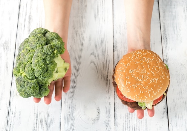 Niezdrowe a zdrowe jedzenie