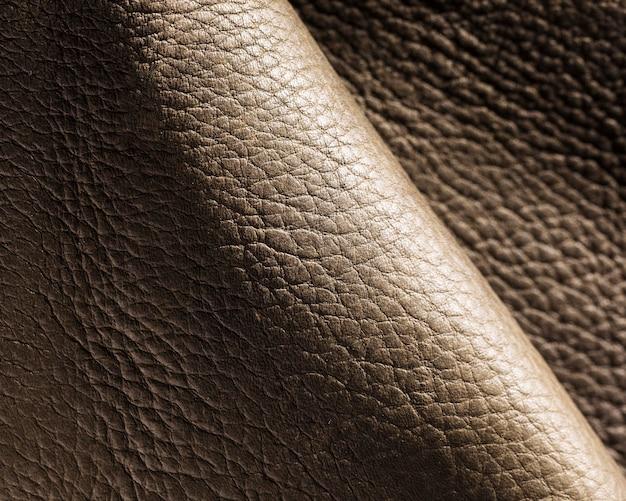 Niezwykle bliska faliste skórzane tekstury tła powierzchni