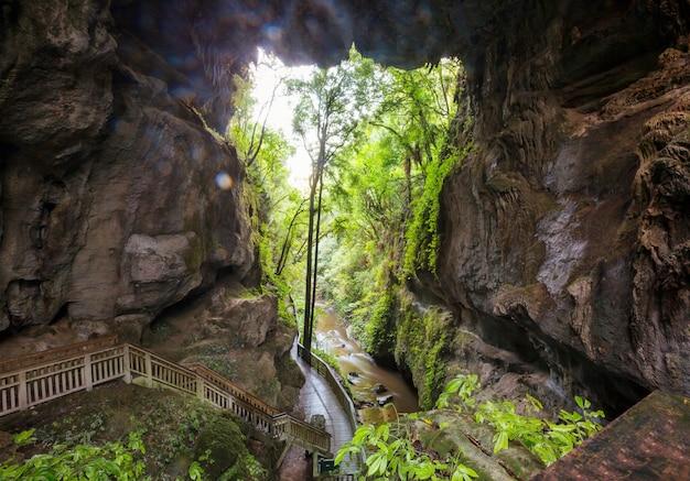 Niezwykłe krajobrazy jaskiń w nowej zelandii