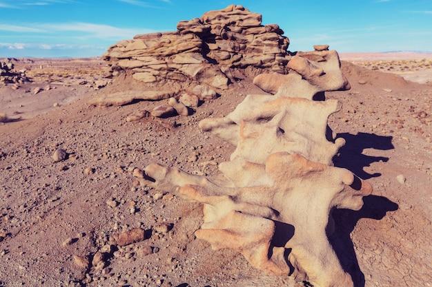 Niezwykły kanion fantasy na pustyni utah, usa.