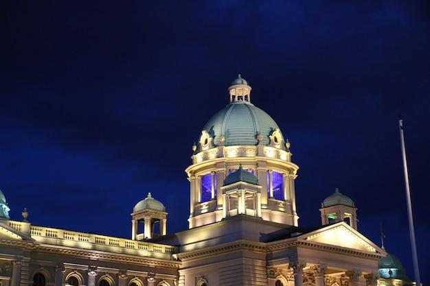 Noc w belgradzie, serbia