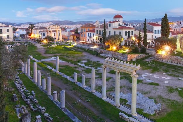 Nocna agora rzymska w atenach, grecja