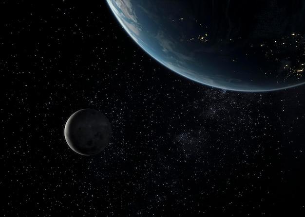 Nocna panorama galaktyki