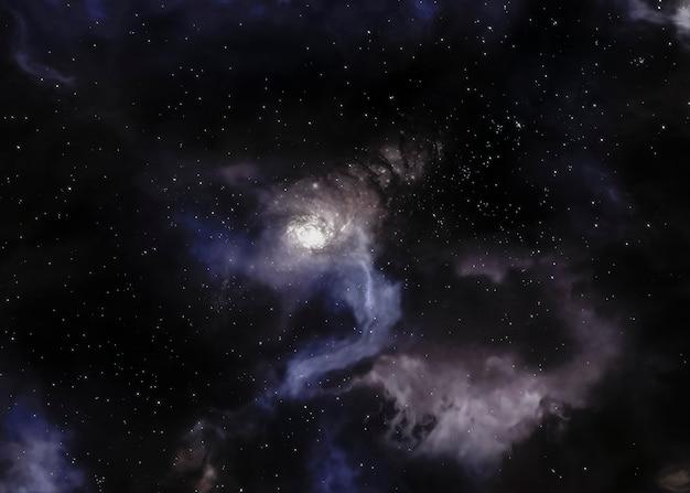 Nocny krajobraz galaktyki