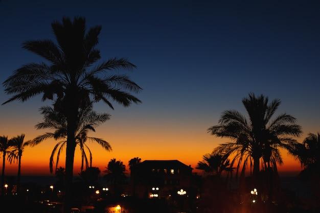 Nocny widok na starym mieście. jaffa, izrael.