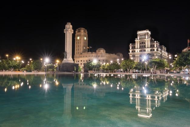 Nocny widok z hiszpanii