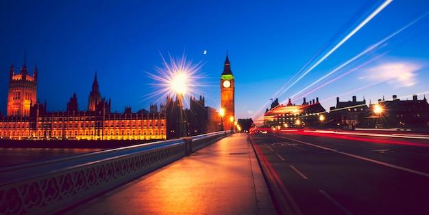 Nocny widok z londynu, wielka brytania