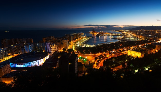 Nocny widok z malagi