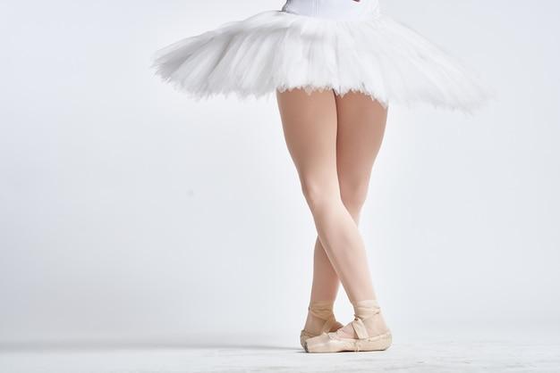 Nogi baleriny w pointach