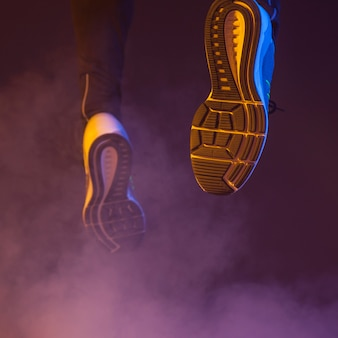 Nogi z bliska do biegania