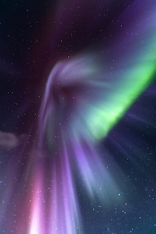 Northern light aurora islandia