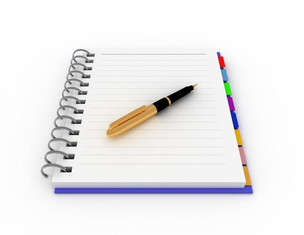 Notatnik biurowy z długopisem