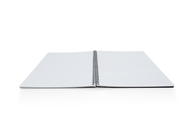 Notatnik na białym tle