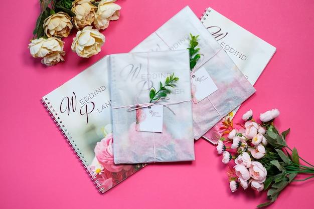 Notatnik na notatki dla przyszłych nowożeńców. notatnik ślubny dla panny młodej