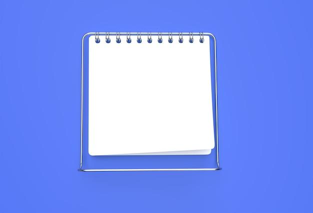 Notatnik Renderowania 3d Makieta Z Czystym Pustym Miejscem Do Projektowania I Reklamy, Widok Perspektywiczny Ilustracji 3d. Premium Zdjęcia