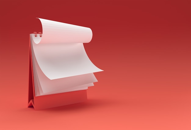 Notatnik Renderowania 3d Makiety Z Czystym Pustym Miejscem Do Projektowania I Reklamy, Widok Perspektywiczny Ilustracji 3d. Premium Zdjęcia