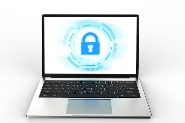 Notebook komputerowy z blokadą klawiatury dla bezpieczeństwa online