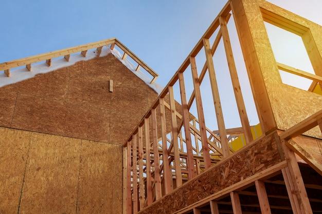 Nowa budowa domu mieszkalnego widok wnętrza