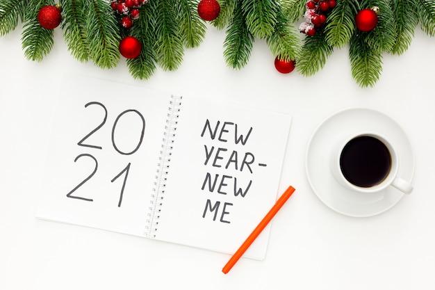 Nowa koncepcja nowego roku ja inspiration