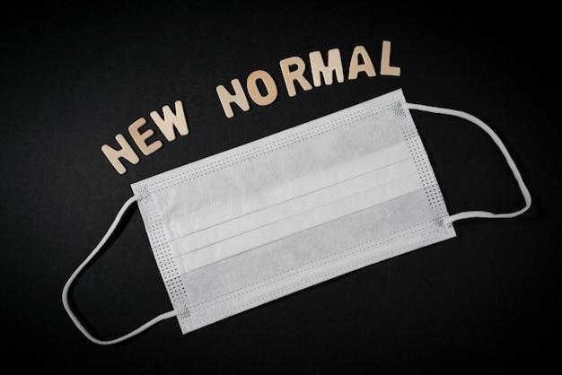 Nowa normalna koncepcja. nowe normalne życie po kryzysie covid na całym świecie