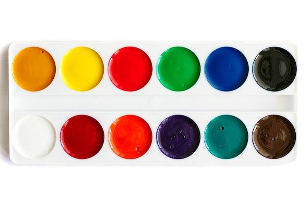 Nowe farby akwarelowe, odizolowane