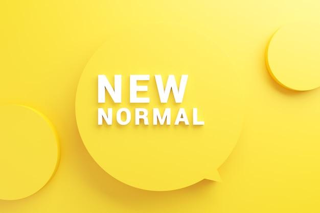 Nowe normalne sformułowanie na minimalnym żółtym tle.