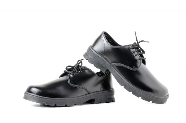 Nowe skórzane buty studenckie izolowane