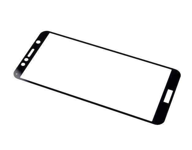 Nowe szkło ochronne do smartfona na białym tle.