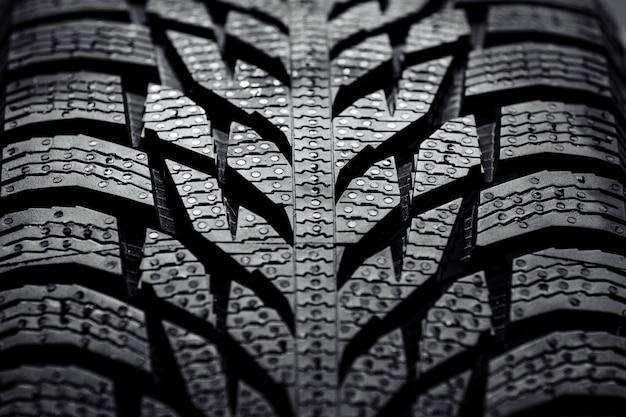 Nowe tło opon samochodowych. bliska tekstury